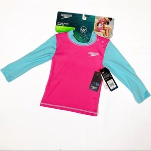 Speedo Toddler Girl's Long Sleeve Swim Shirt